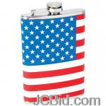 JCBid.com online auction 8oz-ss-hip-flask-usa-flag-wrap