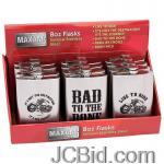 JCBid.com online auction 12-set-8oz-imprinted-flasks