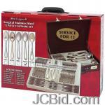 JCBid.com online auction 72-pc-gold-trim-flatware-set