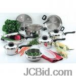 JCBid.com online auction 15pc-ss-cookware-set