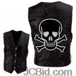 JCBid.com online auction Leather-vest-with-skull-sz-m