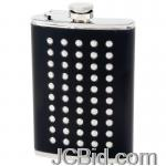 JCBid.com online auction 8oz-studded-black-wrap-flask