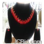 JCBid.com Red-Crystal-choker-Necklace