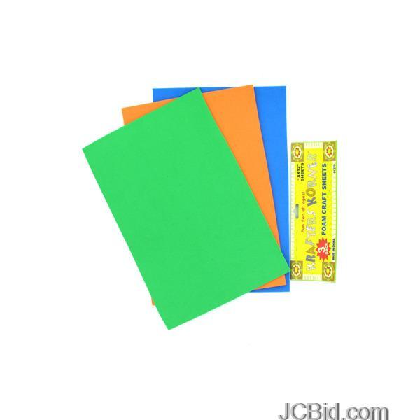 JCBid.com Foam-Craft-Sheets-display-Case-of-108-pieces