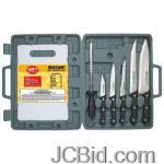 JCBid.com online auction 8pc-cutlery-wcutting-board-maxam-knife-set-with-cutting-board