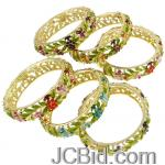 JCBid.com online auction Genuine-rhinestone-accents-bracelet-1-piece