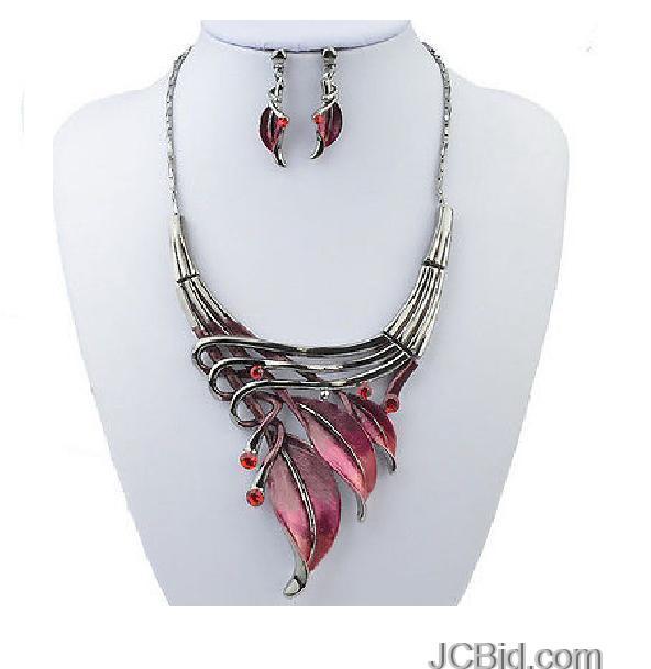 JCBid.com Beautiful-Necklace-Leaf-Design-