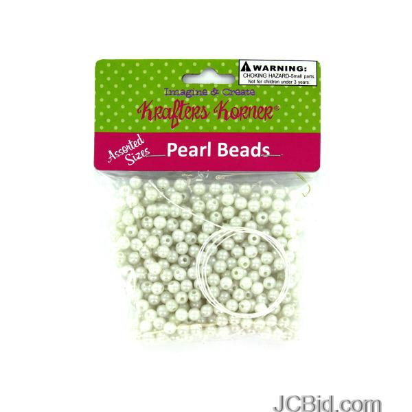 JCBid.com Plastic-Craft-Pearl-Beads-display-Case-of-96-pieces