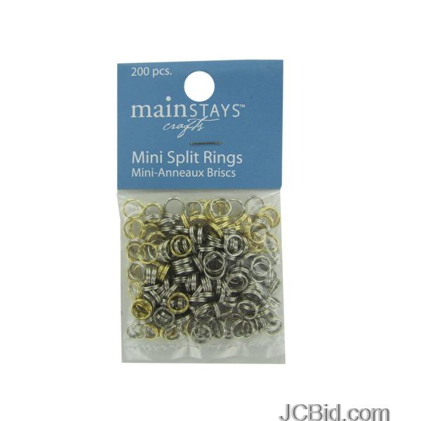 JCBid.com Mini-Split-Rings-Assortment-display-Case-of-240-pieces