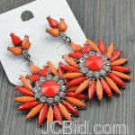 JCBid.com online auction Round-dangle-earrings-orange-shade