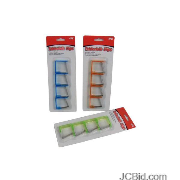 JCBid.com Tablecloth-Clips-Set-display-Case-of-108-pieces