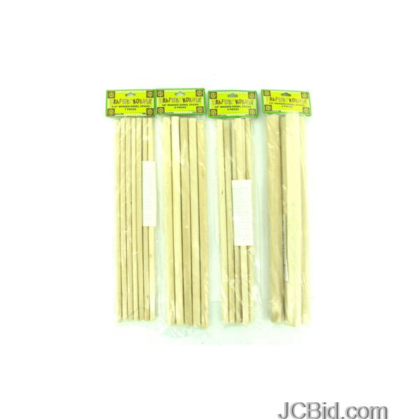 JCBid.com Wooden-Dowel-Craft-Sticks-display-Case-of-84-pieces