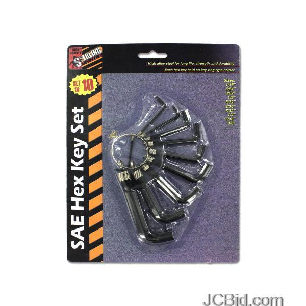 JCBid.com SAE-Hex-Key-Set-display-Case-of-108-pieces