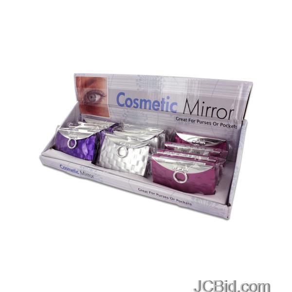 JCBid.com Purse-Design-Cosmetic-Mirror-Display-display-Case-of-72-pieces