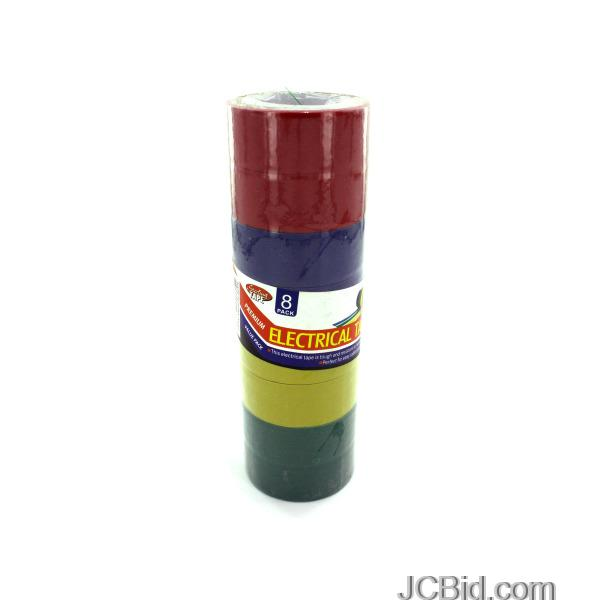 JCBid.com Colored-Electrical-Tape-display-Case-of-96-pieces