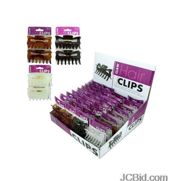 JCBid.com Claw-Hair-Clips-Countertop-Display-display-Case-of-72-pieces