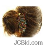 JCBid.com online auction Colorful-peacock-design-retro-hairpin