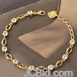 JCBid.com online auction Clear-crystal-and-gold-tone-bracelet-
