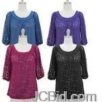 JCBid.com online auction Round-neck-lace-top-your-choice-of-color