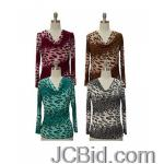 JCBid.com online auction Long-sleeve-cowl-neck-animal-print-top-your-choice-of-color