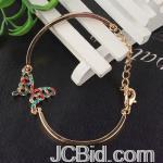 JCBid.com online auction Tiny-colored-crystal-butterfly-golden-bracelet-
