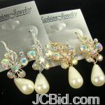 JCBid.com online auction Butterfly-crystal-stone-pearl-drop-earriings-in-silver-or-gold-tone