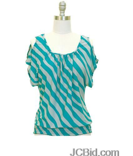 JCBid.com Stripe-Top-your-choice-of-Black-or-Blue
