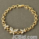JCBid.com online auction Stunning-butterfly-crystal-amp-heart-bracelet