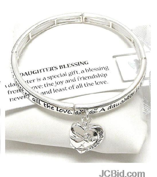 JCBid.com Daughter-Blessing-Bracelet-with-charm