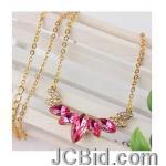 JCBid.com online auction Hot-pink-crystal-pendant-necklace-