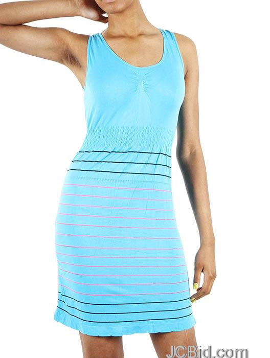 JCBid.com One-piece-Tank-Top-dress-with-stripes-