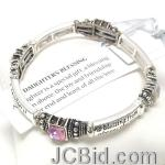 JCBid.com Daughter-Blessing-Bracelet-with-Colored-gems