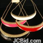 JCBid.com online auction Gold-tone-chain-necklace-with-moon-shape
