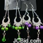 JCBid.com online auction 3quot-silver-chandelier-style-earring-w-colored-beads