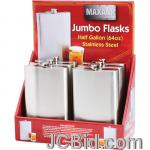 JCBid.com 64OZ-SS-FLASK-6PC-DISPLAY