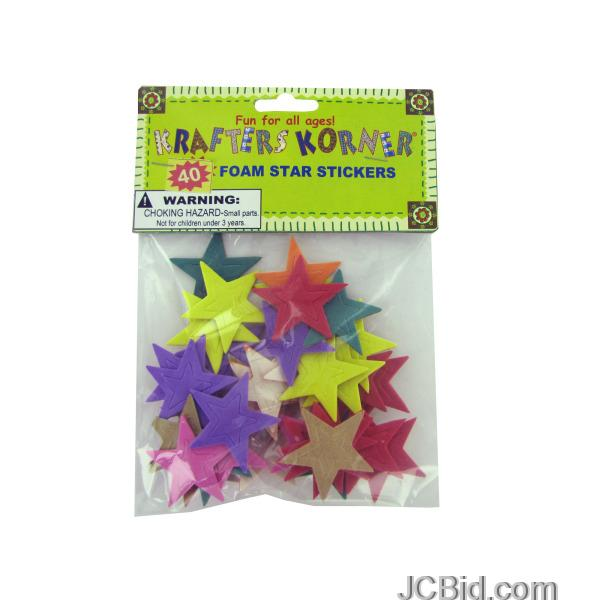 JCBid.com Foam-Star-Stickers-display-Case-of-120-pieces