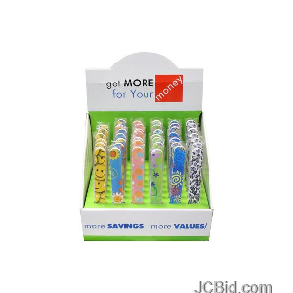 JCBid.com Stylish-amp-Fun-Nail-Files-Countertop-Display-display-Case-of-120-pieces
