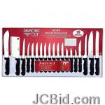 JCBid.com online auction 19pc-diamond-cut-cutlery-set