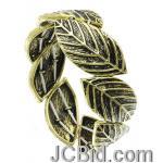 JCBid.com Antique-Gold-Metal-Leaf-Bracelet