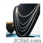 JCBid.com online auction Multi-layer-silver-necklace-for-women