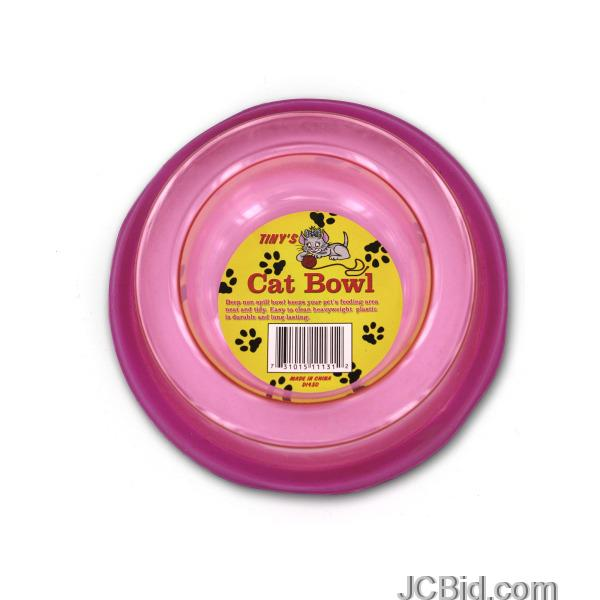 JCBid.com Non-Spill-Cat-Bowl-display-Case-of-96-pieces