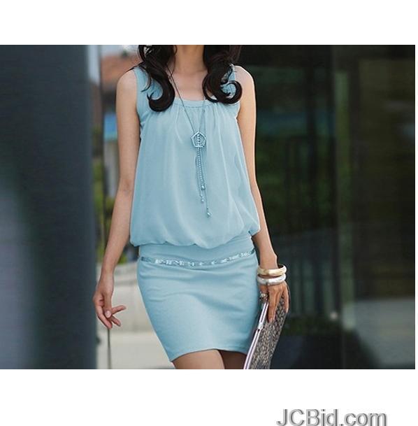 JCBid.com One-Piece-Dress-Blue