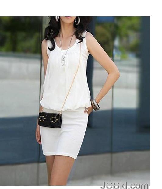JCBid.com One-Piece-Dress-White