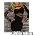 JCBid.com online auction Lace-inserted-dress-black