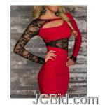 JCBid.com online auction Lace-inserted-dress-red