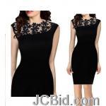 JCBid.com online auction One-piece-tunic-dress-lace-inserted-black