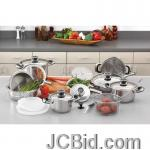 JCBid.com online auction 22pc-ss-cookware-set