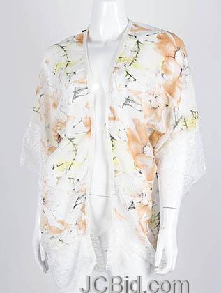 JCBid.com Floral-print-Lace-Cover-up-Peach