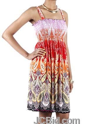 JCBid.com Paisley-Print-Sundress-Red