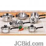 JCBid.com online auction 17pc-ss-cookware-set